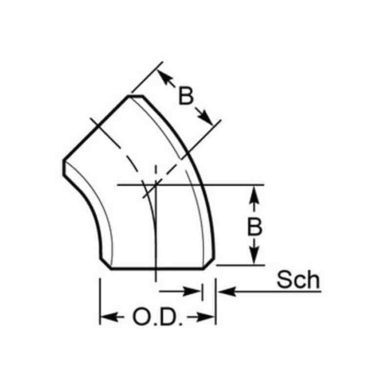 45° Long Radius Elbows