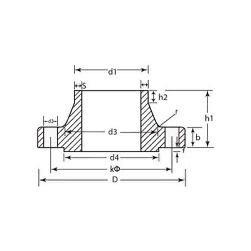 DIN PN16 Forged/Cast Steel Flanges DIN 2633 Welding Neck Flanges