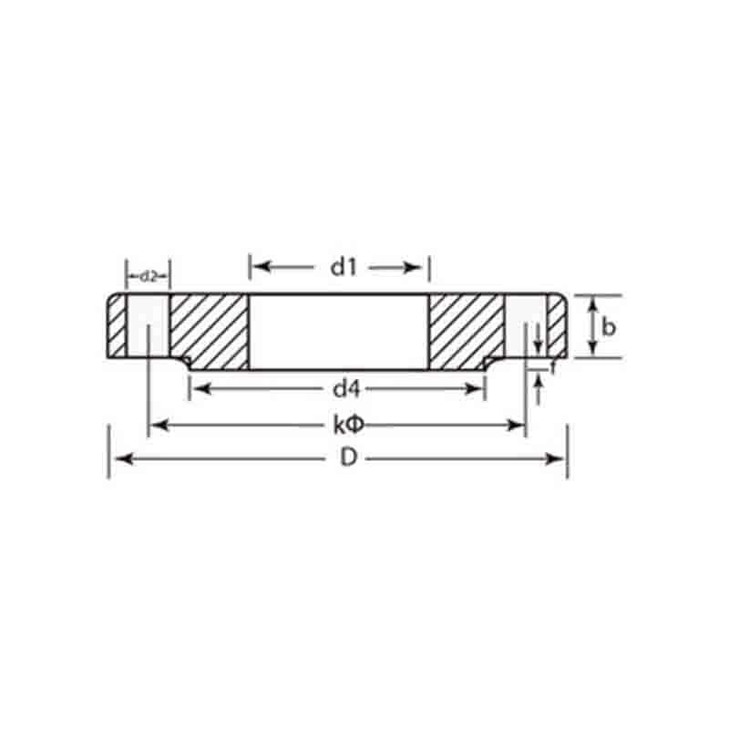 DIN PN40 Forged/Cast Steel Flanges DIN 2545 Slip-On Flanges